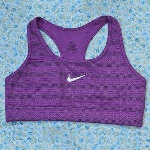Nike Dri-Fit Sports Bra Bold Berry Dots Purple Med